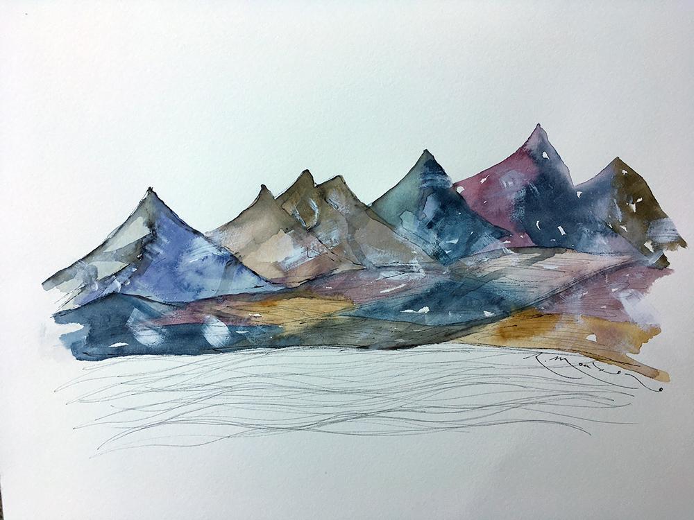 montañas de colores series