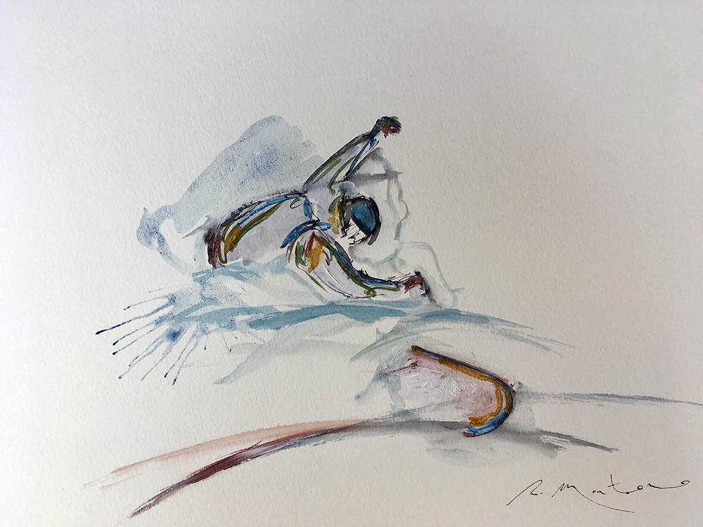 el snowboarder