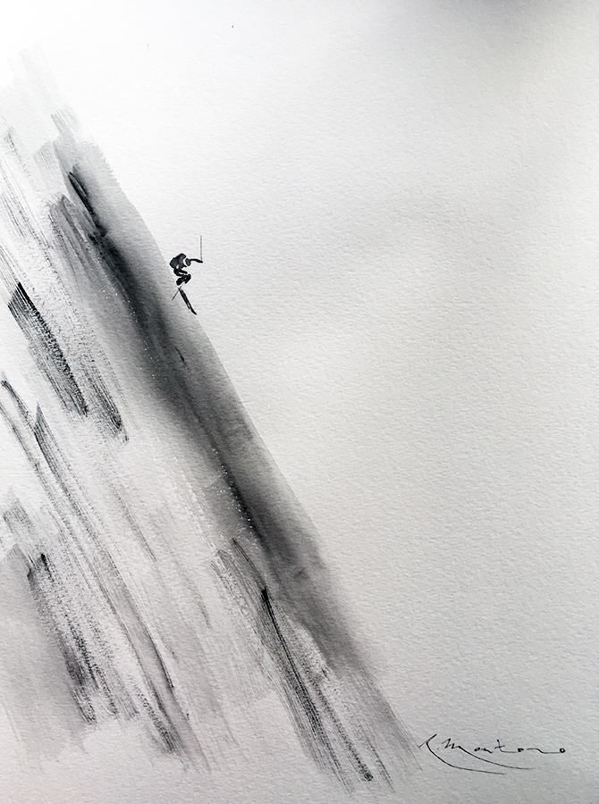esquí de pendiente