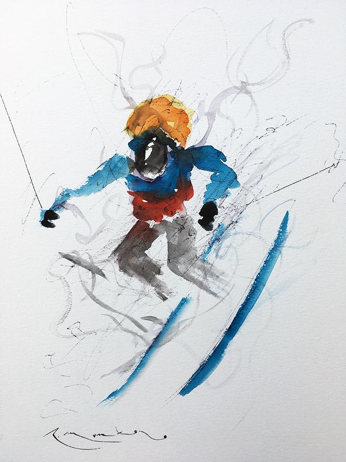 movimiento en azules II
