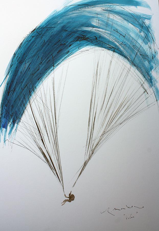 parapente azul