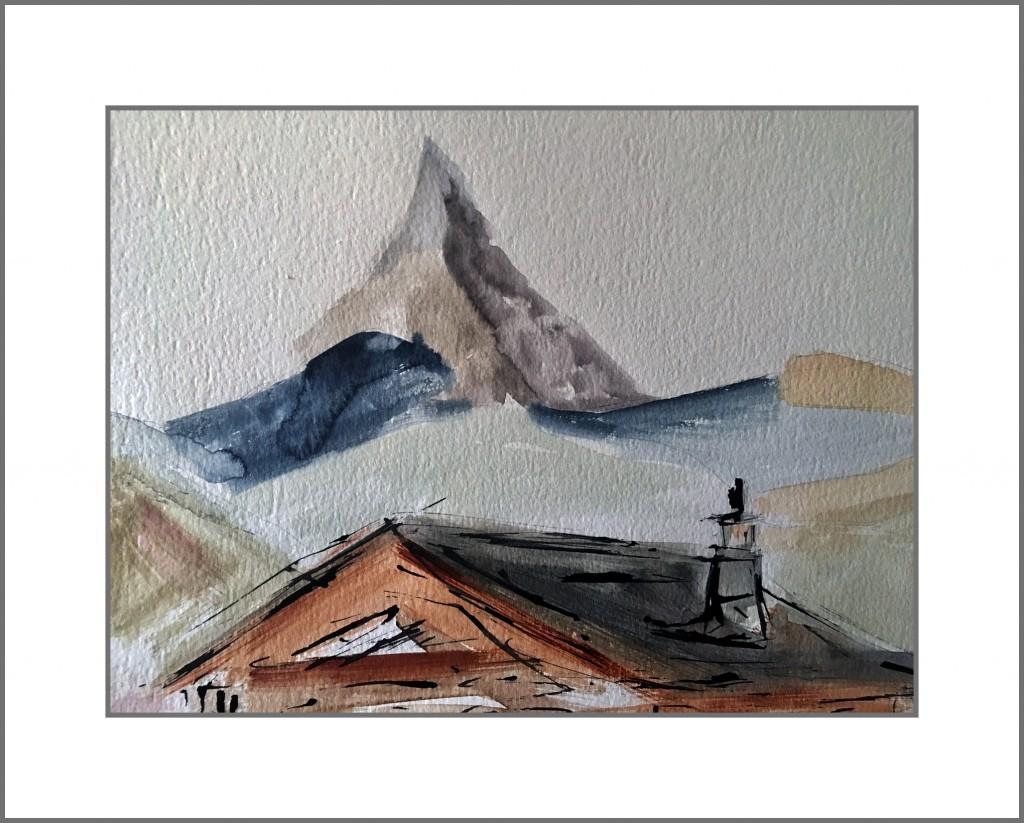 Matterhorn and house