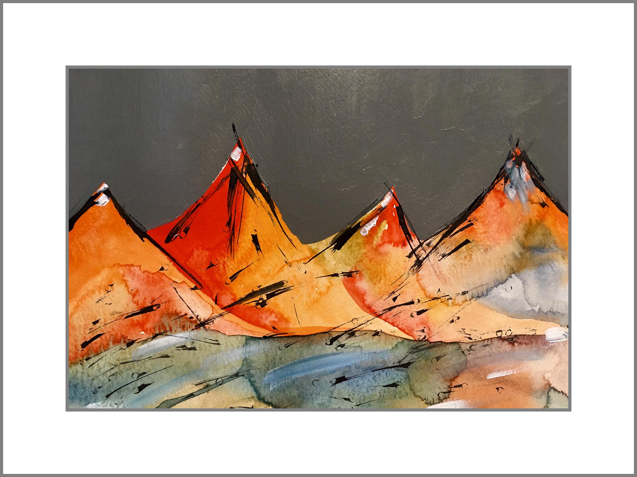 montañas de color b